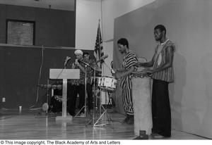 [Photograph of band performing at conference for Black Women in the Arts] Conference on Black Women in the Arts