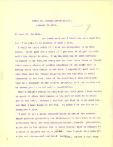 Letter from Mary White Ovington to W. E. B. Du Bois
