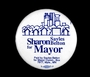 Sharon Sayles Belton for Mayor campaign button