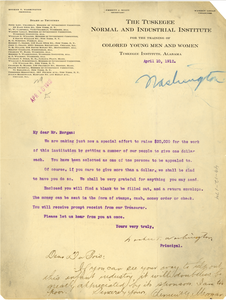 Letter from Clement Morgan to W. E. B. Du Bois