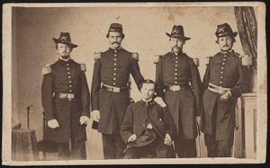 [Five unidentified soldiers in Union cavalry uniforms]