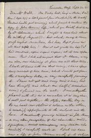 Letter to] Dear Mr. Webb [manuscript