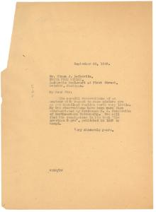 Letter from W. E. B. Du Bois to Simon J. Lefcovitz