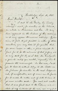 Letter from William Lloyd Garrison, Rockledge, [Roxbury, Mass.], to Wendell Phillips Garrison, Sept. 10, 1868