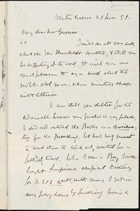Letter from Theodore Parker, Newton Corner, [Massachusetts], to William Lloyd Garrison, [18]58 June 21