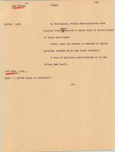 News Script: Powell