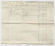 Statement of accounts of Rea and George Squad, 1868