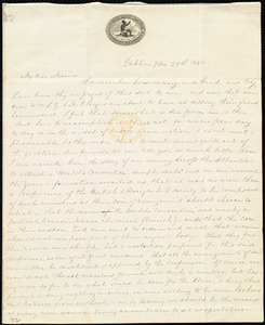 Letter from Lucretia Mott, Dublin, [Ireland], to Maria Weston Chapman, 7 mo[nth] 29th [day] 1840