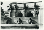Swimming in fountain across from Union Station; Washington, D.C.; September 1938