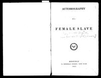 Autobiography of a Female Slave