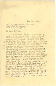 Letter from W. E. B. Du Bois to Yolande Du Bois