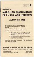 Final plans for the March on Washington for Jobs and Freedom