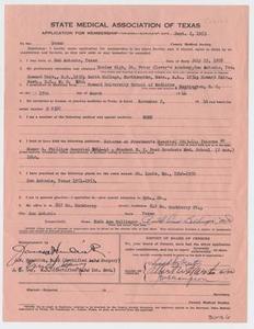 Medical Association Application: Ruth Ann Bellinger, MD