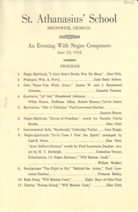 An evening with Negro composers
