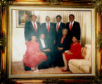 Group portrait photograph of Ruth Eppenger D'Hondt and the Eppenger family, 1991