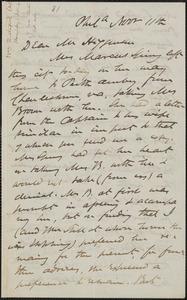 James Miller M'Kim autograph letter signed to Thomas Wentworth Higginson, Phila[delphia], 11 November [1859]
