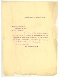 Letter from W. E. B. Du Bois to W. B. Henderson