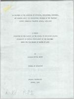 An analysis of the opinions of students, educational personnel, and parents about the educational program of the Treutlen County (Georgia) Training School, 1955-1956