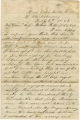 Letter from James Jackson from the Chickahominy battlefield in Virginia, to his wife, parents, and sisters.