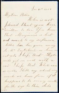 Letter from Rosamond Weston to Deborah Weston, Dec. 30th, 1859