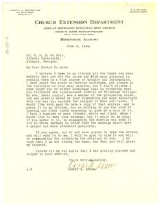 Letter from Oscar W. Adams to W. E. B. Du Bois