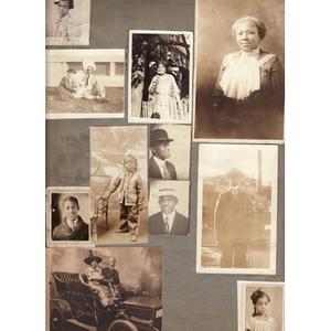 Charles Thomas Family Album Page two.