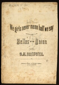 We girls never mean half we say