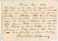 Thumbnail for Bill of indictment for theft against a slave belonging to Ritchard Potts, 1839