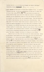 Interview with Dr. W. E. B. Du Bois
