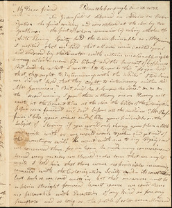Letter from Arnold Buffum, Brattleborough, [Vermont], to William Lloyd Garrison, 1832 [August] 31