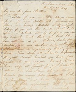 Letter from George Thompson, 18 Aldermanbury, London, [England], to William Lloyd Garrison, 1834 March 27