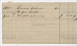 Statement of cash advance to laborer, Emma, from John Cocke, June 1, 1868