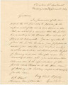 Letter from George R. Gilmer to Richard Blount, chairman of the board of commissioners for the Oconee Navigation Association.