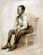 Black man seated on a chair