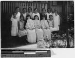 Maryknoll Sisters with group of St. Mary's seniors, Manila, Philippines, February 1929