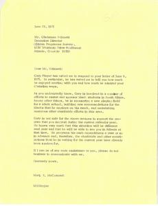 Letter from Mark H. McCormack to Gladstone Ntlabati