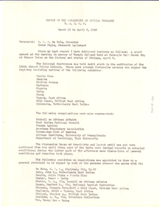 Report of the NAACP Department of Special Research