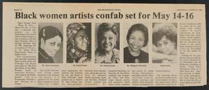 Clipping: Black women artists confab set for May 14-16 Black Woman Artist - News
