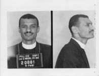 Mississippi State Sovereignty Commission photograph of C. T. Vivian following his arrest for his participation in the Freedom Rides, Jackson, Mississippi, 1961 May 24