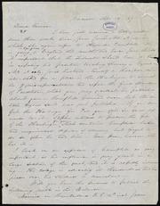 Letter to] Friend Garrison [manuscript