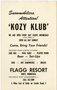 Kozy Klub sign for snowmobilers