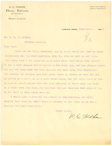 Thumbnail for Letter from D. C. Fisher to W. E. B. Du Bois