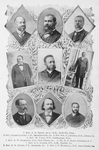 1. Rev. C.S. Smith, M.D., D.D., Nashville, Tenn. ; 2. Rev. Pierre Landry, P.E., Donaldsonville, La. ; 3. Rev. Wm. D. Johnson, D.D., Athens, Ga. ; 4. Rev. M. Vann, D.D., Chattanooga, Tenn. ; 5. Rev. E.W. Hammond, D.D., New Orleans, La. ; 6. Dr. R.E. Hart, Columbia, S.C. ; 7. Rev. A.L. Gaines, B.D., A.M., Norfolk, Va. ; 8. Rev. R.R. Downs, P.E., Savannah, Ga. ; 9. Rev. J.F. Marshall, P.E., New Orleans, La