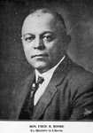 Hon. Fred. R. Moore, Ex-Commissioner to Liberia