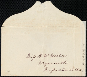 Letter from Esther Sturge, Bakewell, Derbyshire, [England], to Maria Weston Chapman, 15 [day] 8 mo[nth] 1854