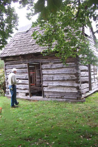 Harriet Tubman Underground Railroad Byway - Entering James Webb's Cabin