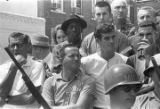 """Crowd of observers in downtown Philadelphia, Mississippi, during the """"March Against Fear"""" begun by James Meredith."""