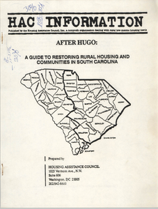 """""""After Hugo: A Guide to Restoring Rural Housing and Communities in South Carolina"""""""