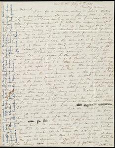 Letter from Anne Warren Weston, Dorchester, [Mass.], to Deborah Weston, July 11th, 1839, Thursday morning