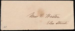 Letter from Elizabeth Rotch Arnold to Deborah Weston, 1842